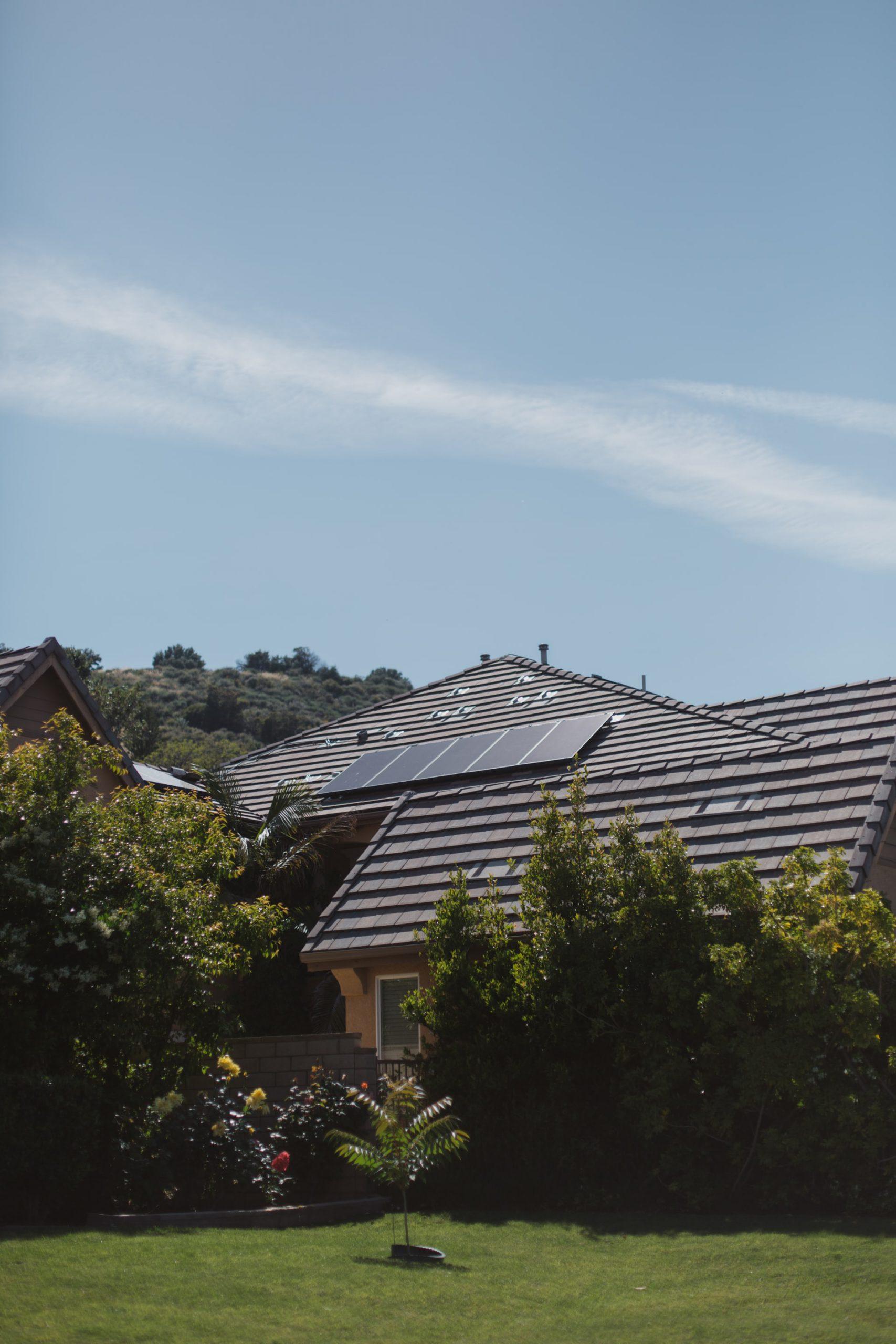 duurzame woning met zonnepanelen
